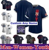 2021 Hommes Femmes Jeunesse Baseball Jerseys Aaron Gerrit Cole Gleyber Torres Giancarlo Stanton Sanchez Sabathia DJ Lemahieu Jersey