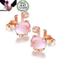Bracelet, Earrings & Necklace OMHXZJ Wholesale European Fashion Woman Girl Party Wedding Gift Zircon S925 Sterling Silver Earrings+Necklace