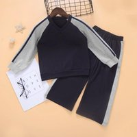 Clothing Sets Spring Boys Girls Set Solid Color Wide Leg Pants Casual Kids Suits