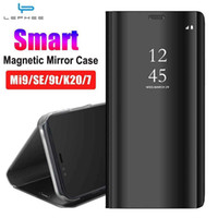 Pour Smart Magnetic for Case Xiaomi Mi 9T 9 SE 8 Lite A2 MAX 3 Pocof1 Redmi K20 7 PRO XIOMI REDMI NOTE 7 5 Note5 6 Couverture miroir