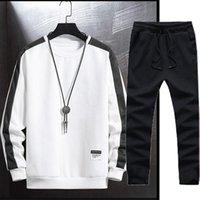 Men's Gym TrackSuit Sport Jacket Suit Set Trousers Jogging Sweatsuits Blazer Train Track Walk Jogger 2PC Hoodies & Sweatshirts