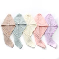 60*25CM Microfibre After Shower Hair Drying Wrap Womens Girls Lady'S Towel Quick Dry Hat Cap Turban Head Bathing Tools