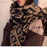 Корейский F-Letter Имитация кашемировой двухсторонний теплый шаль моды универсальная утолщенная пара новая осенью и зимний шарф