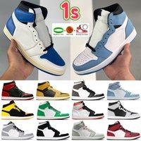 1 1S Баскетбольная обувь Свет дыма Серый Высокий темный Moach Twist Chicago Toe Мужчины Женщины Тренировки Royal Toe Kerskers Beychain Tag