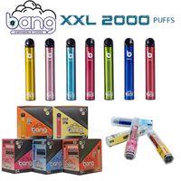 Bang XXL XXTRA Disaposable Cigarettes Vape Pen Price 2000 퍼프 6.0ml 5 % 용량 무료 800mAh 배터리 24 색 VS 에어 바 최대