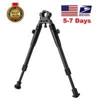 Pinza-en 6-9 pulgadas BIPOD para rifles Montaje redondo Liberación rápida Tácticas plegables BIPOD Montaje de caza de altura ajustable BIPOB