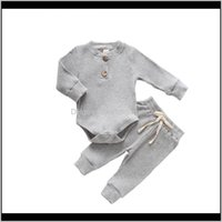 Baby, Kids & Maternityautumn Born Baby Clothes 2Pcs Cotton Comfortable Solid Infant Boys And Girls Suit Long Sleeve Romper+ Pants Clothing Se