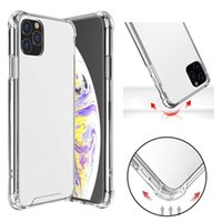 Transparent Shockproof Acrylic Hybrid Armor Hard Phone Cases for iPhone 13 12 11 Pro XS Max XR 8 7 6 Plus Samsung S21 S20 Note20 Ultra A72 A52 A32 A12 Redmi Huawei