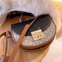 70% off Online Store With 2021 new G family padlock half moon saddle bag leather women's piggy one shoulder slant span Clearance Sale