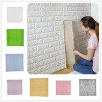 Wallpapers 1pcs Self Adhesive Foam Wallpaper 3D Brick Wall Panel Living Room Stickers Bedroom Kids Papers Home Decoration