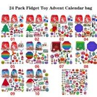 24 Paket Fidget Oyuncak Noel Geri Sayım Takvim Kör Çanta Advent Takvim Noel Hediye Çanta Noel Ağacı Süs Toptan