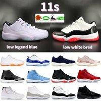 Homens 11 11s 25º Aniversário Basquetebol Sapatos Baixo Legenda Azul Citrino Branco Criado Concord Pantone Cap e Vestido Mens Mulheres Sneakers