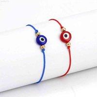 Рука веревка 3 шт. / Пакетная Lucky String Сглазкий глаз счастливый красный веревка регулируемый браслет украшения