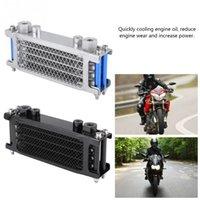 Aleación de aluminio Universal Motorcycle Enfriador de aceite Radiador de enfriamiento para Motorbike Dirt Bike 50CC-200CC Conjunto