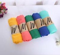 Süßigkeiten Farbe Schals Frau Schal Ethnische 19 Farben Frühling Sommer Mode Solide Dame Wraps Sonnenschutz Baumwolle und Leinen EBC7076