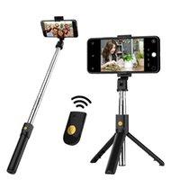 Mini Wireless Bluetooth Selfie Stick 3 في 1 مع ترايبود مصراع بعيد لجهاز iPhone Huawei Samsung الذكي