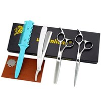 Hair Scissors Univinlions 6 Inch Kit Barber Accessories Salon Clippers Professional Cutting Shears Set Hairdressing Tools