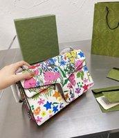 Bolsa de ombro diagonal de alta qualidade Designer de moda com bolsas de impressão coloridas Senhoras temperament Chain Bags WF2104231