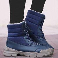 Mode Schaffell Wasserdichte Pelz gefütterter Frauen Casual Kurzer Knöchel Winterstiefel Für Damen Schnürschuhe Schneeschuhe Schuhe Jungenstiefel Mode Schuhe 53lk #
