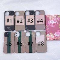 Designer moda casos de telefone para iPhone 12 pro max mini 11 11PRO X XS XR XSMAX 7 8 PLUS PU couro shell samsung s20 s10 s10p s20p s20u nota 9 10 20 20u com caixa