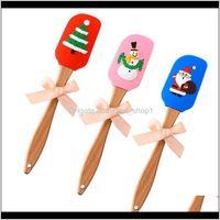 Weihnachtsspatel silos Mischt Teigschaber Pinsel Butter Mixer Kuchenbürsten Backen Küchenwerkzeuge DLTCC 1FQT6