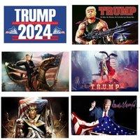 2024 트럼프 열차 플래그 90 * 150cm 트럼프 플래그 미국 대통령 선거 트럼프 배너 플래그 2024 3 * 5ft HWB6255