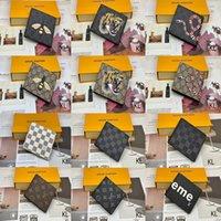 2021 Italien Marke Designer Brieftasche Top Qualität Mode Luxus Mann Frau Biene Schlange Tiger Kopf Kreditkartentasche