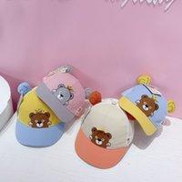 Hats J2062 summer baby duck tongue Korean cartoon cub children's baseball children's net