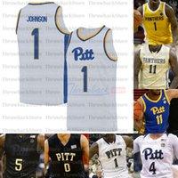 사용자 정의 피츠버그 팬더 농구 유니폼 0 에릭 해밀턴 1 Xavier Johnson 2 Trey McGowens 4 Drumgoole Jr. 11 샴페리