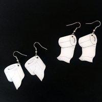 İlginç Rulo Kağıt Dangle Küpe Akrilik Yaratıcı Havlu Tuvalet Kağıdı Küpe Kadın Gece Kulübü Takı Için
