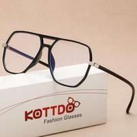 Fashion Sunglasses Frames 2021 Anti-Blue Light Polygon Computer Glasses Retro Unisex Transparent Spectacle Plastic Optical Brand Design