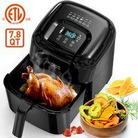 KOIOS Air Fryers Oven, Max XXL 7.8-Quart Dehydrator, 1800-Watt 4*6 Presets for Air Frying, Roasting, Reheating, Ergonomic Touchscreen