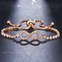 Tennis Luxury Chain Bracelet For Women Rose Gold Silver Color Cubic Zirconia Charm Bracelets & Bangles Girls Jewelry