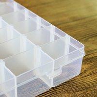 Caixa de armazenamento vazio plástico transparente removível diy jóias maskup organizador multifuncional cosmético recipientes desktop 36 lattice ccf7611