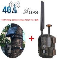Caméras de chasse Solar 4G Scout Caméra sauvage Po-piège GPS / Email / MMS / FTP / GSM avec panneau de chargeur externe 3000MAH