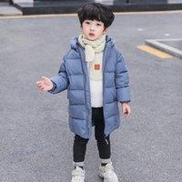 Детская хлопчатобумажная одежда детская новая зимняя куртка девочки пальто с капюшоном с капюшоном длиной мальчиков одежда толщиной слой верхняя одежда Baby LJ201017 101 Z2
