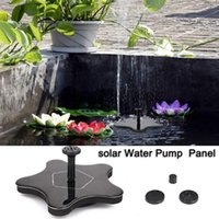 Garden Decorations Solar Starfish Shape Fountain Miniature Brushless Pump Nozzle Outdoor Spray Swimming Pool Decoration For Pools Bird Baths