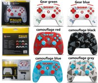 6 Colors Wireless Controller Bluetooth Hand Game Controllers Vibration Joystick Gamepad for Switch PRO  N-SL PS3 With Retail package