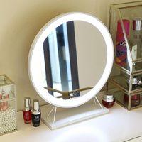 Desktop Bluetooth Três Cores Conduziu A Luz Espelho Cosmético Especial Com Multifuncional Lâmpada De Mesa Compact Mirrors