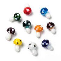 100 sztuk 19x145mm Handmade Grzyby Lampwork Koraliki Całe Szkło Luźne Koraliki Dla DIY Craft Biżuteria Wykrycia