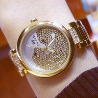 Наручные часы BS Bee Сестра Женские Кварцевые Часы Мода Повседневная Женская Женская Золотой Хрустальный Алмазный Леопард для Часов