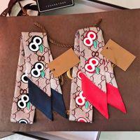 2021 럭셔리 브랜드 여성 패션 스카프 디자이너 헤드 밴드 클래식 핸드백 스카프 고품질 실크 재료 크기 8 * 120cm