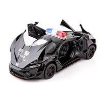 132 Lykan hypersport شرطة دييكاست لعبة المركبات المعادن سيارة نموذج الصوت ضوء جمع سيارة لعب للأطفال هدية عيد