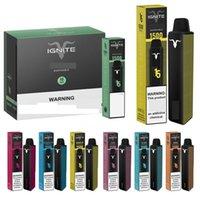 Ignite V15 POD Vape jetable Vape Vape Vape OM ODM E cigarettes Pods 850mAh Batterie 1500 Puffs Barre pré-remplissante Barre de vaporisateur PLUS