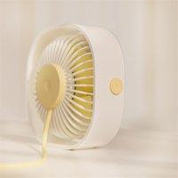 MINI Personal USB Desk Fan Portable Desktop Cooling Fan Strong Wind Quiet Operation for Home Office Car KKB7889