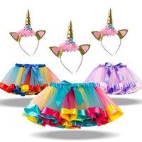 클래식 여름 사랑스러운 다채로운 투투 스커트 아기 소녀 옷 아이 여자 여자 무지개 얇은 명주 그슬보이 유아 소녀 춤 pettiskirt 0-8 년