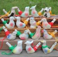 Su Kuş Düdük Seramik Kil Karikatür Çocuk Hediyeler Mini Hayvan Tavuskuşu Islık Retro Zanaat Whistl HHF9180