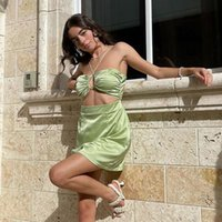 Fashion Summer Halter Sexy Backless Mini Dress Holiday Elegant Skinny Sleeveless Club Party Dresse