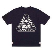 Дворцовый треугольник Fortune Co Fortune Backed Back Budda Head Print Courne шеи с коротким рукавом футболка - рубашка