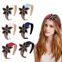 Hair Accessories Rhinestone Bow Diamond Headband For Women Fashion Non-Slip Hairband Big Flower Crown Head Band Bezel